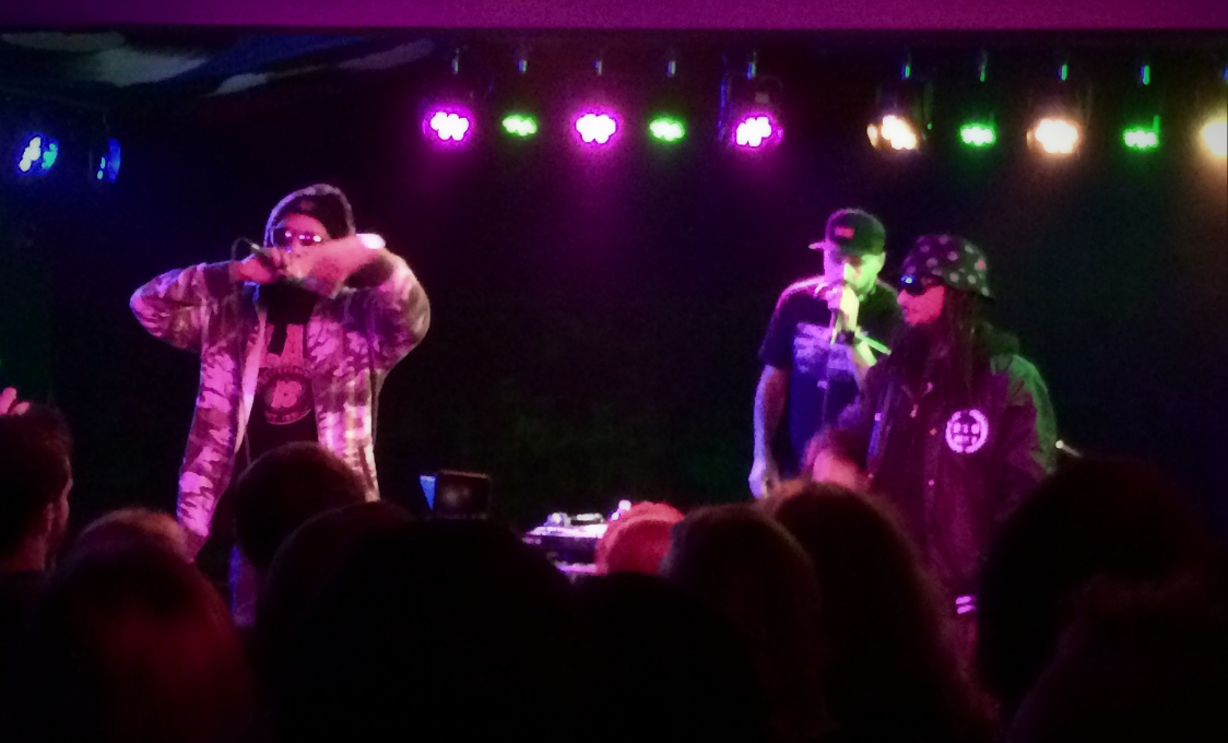 deL! performed with Hieroglyphics producer Domino and A-Plus from Souls of Mischief and Hieroglyphics