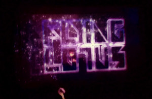 Flying Lotus 3D visual stage imagery